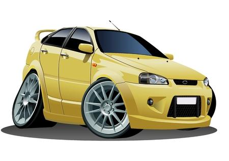 tiges: Vecteur caricature moderne voiture