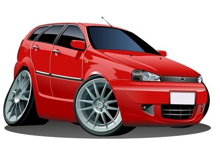 race cars: Vector modern cartoon car Illustration