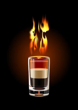 Vector B-52 Shot cocktail (vlam met transparantie)
