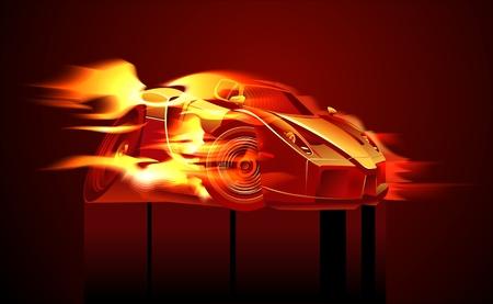 cartoon sportcar Vector
