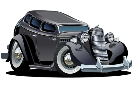 tiges: Vecteur caricature r�tro voiture Illustration