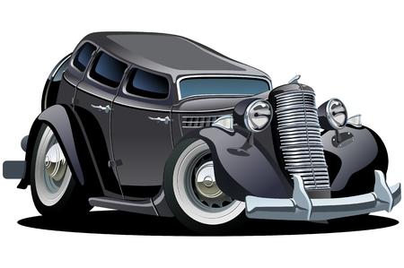 mode of transportation: Vettore retr� cartoon auto