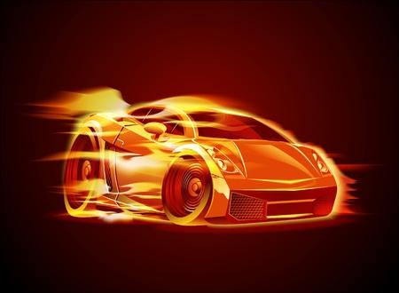 Vector modern cartoon car Vector