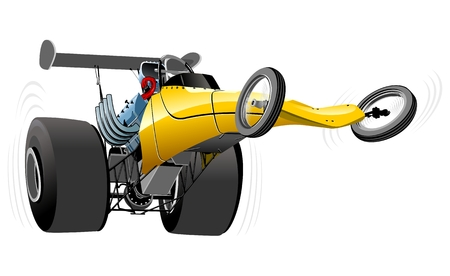 vector cartoon: Dragster fumetto vettoriale