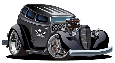 street rod: cartoon hotrod