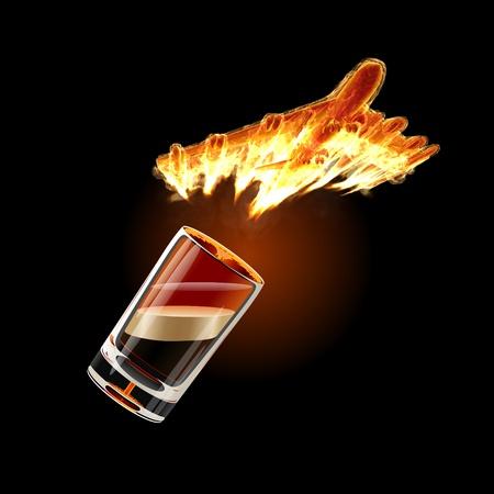 B-52 Shot cocktail Stock Photo - 8412155
