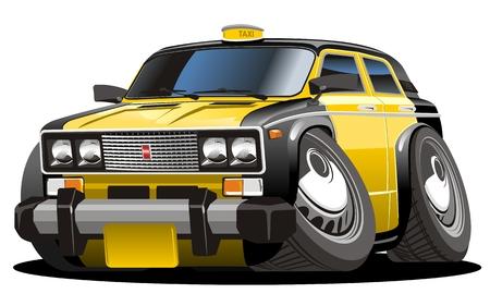 Cartoon taxi Stock Illustratie