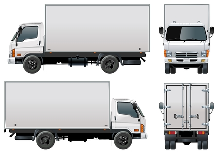 delivery / cargo truck Stock Vector - 8412158