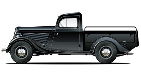 old truck: retro pickup Illustration