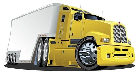 Vector cartoon cargo semi-truck Stock Vector - 8512425