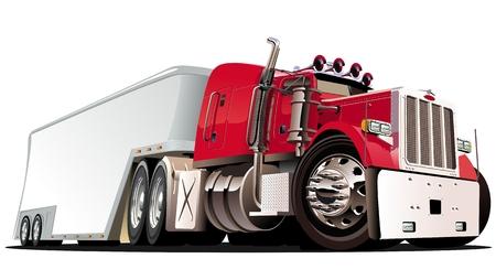 ciężarówka: Cartoon semi samochodów ciężarowych