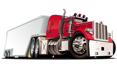 cartoon semi truck Stock Vector - 8621199