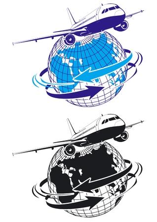 transport logo: airliner Illustration