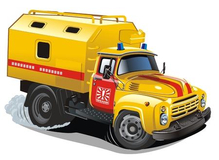 semi truck: cami�n de reparaci�n de dibujos animados Vectores