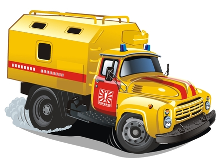 lkw stra�e: Cartoon Reparatur LKW Illustration