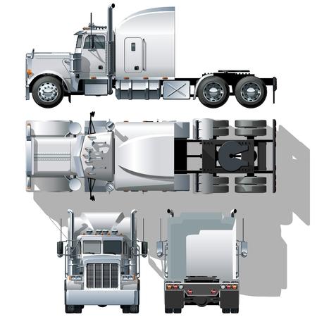 camion: Hola-detallada semi-truck
