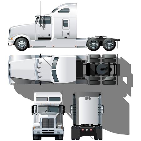 ciężarówka: Hi szczegółowe semi-truck