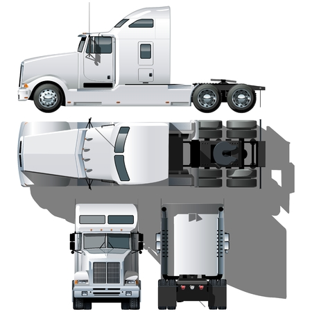 remolque: Hola-detallada semi-truck