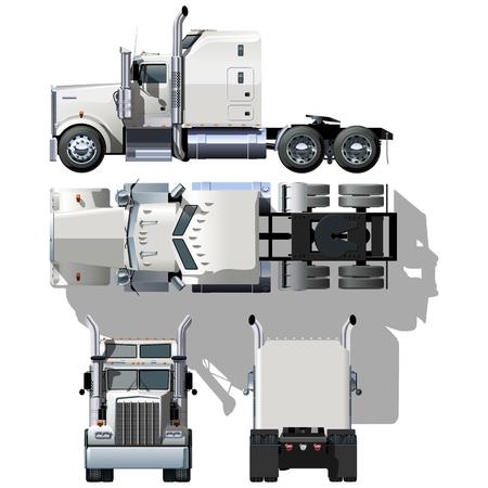 front wheel drive: hi-detailed semi-truck