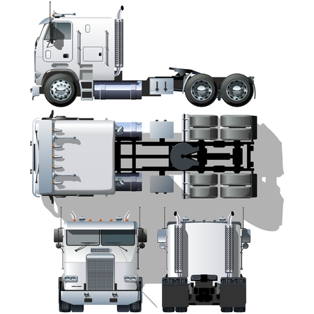 truck tractor: hi-detailed semi-truck