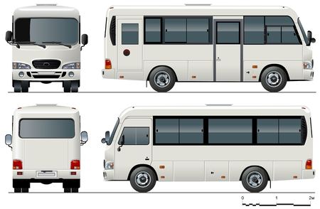 motor coach: urban mini-bus Illustration