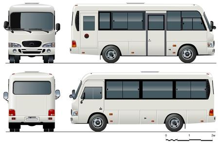 mini bus: urban mini-bus Illustration