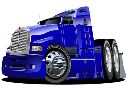 cartoon semi-truck Vector