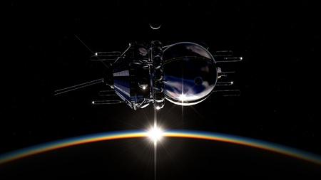 First spaceship on orbit photo