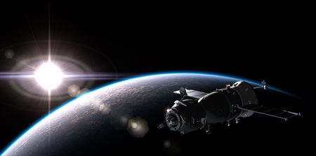 satelite: Nave espacial en la �rbita