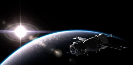 satelite: Spaceship on the orbit