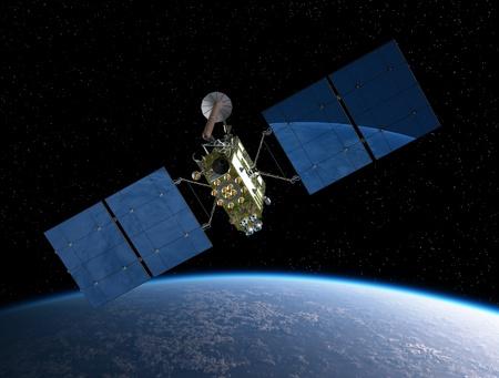 satelite: Sat�lite de navegaci�n modernos Foto de archivo