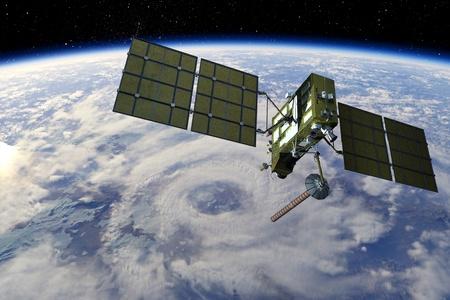 Satellietnavigatiesysteem Stockfoto
