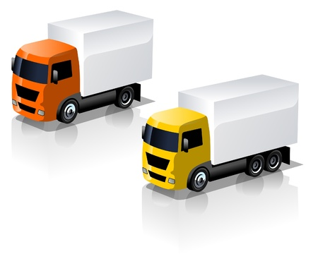 truck icons set Stock Vector - 9827446