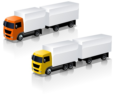 icônes de camions mis en