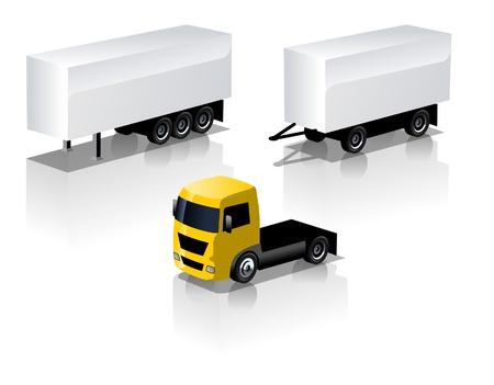semi truck: conjunto de iconos de cami�n