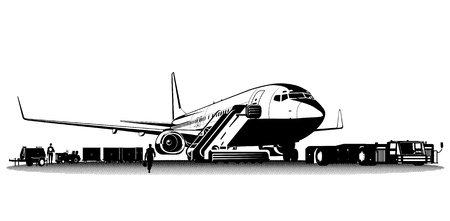 Vector commercial airliner Illustration