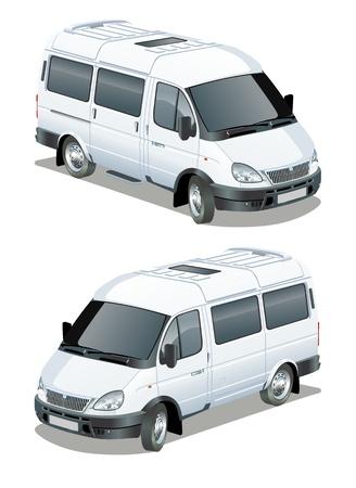 Vector delivery   cargo van Vector