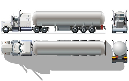 rear wheel: Vector detailed tanker truck Illustration