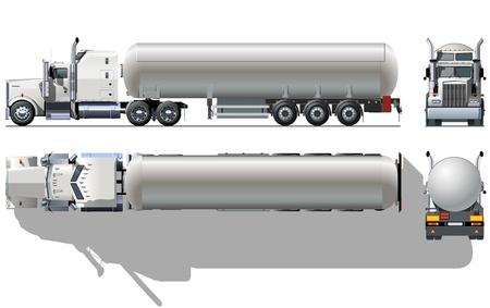 Vector gedetailleerde tankwagen Vector Illustratie