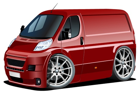 Vector cartoon delivery van Illustration