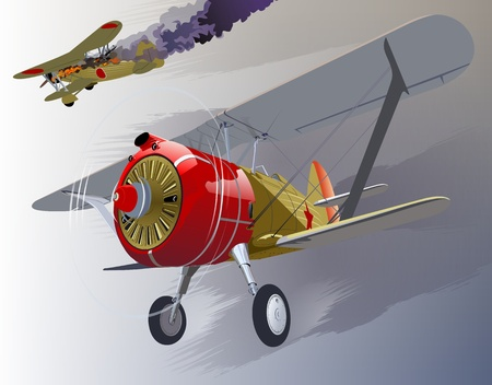 biplane: Vector fighter 30-s