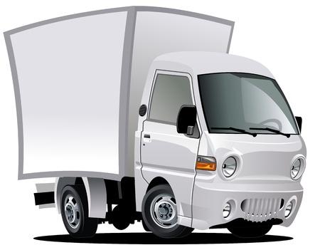 carro caricatura: dibujo animado de entrega  camiones de carga