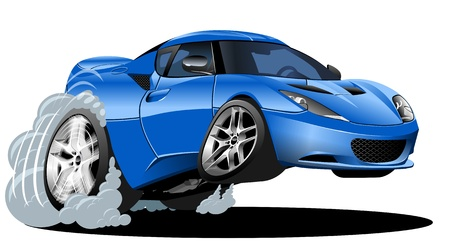 vector cartoon: vector cartoon sportcar