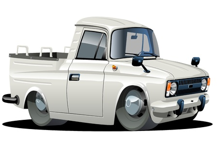 street rod: Vector cartoon delivery pickup Illustration