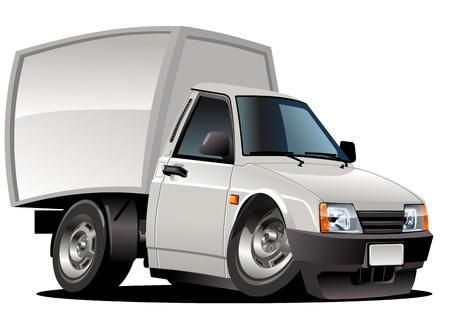 camioneta pick up: Dibujos animados de recogida de entrega Vectores