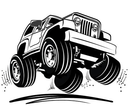Cartoon 4 Rad-Antrieb
