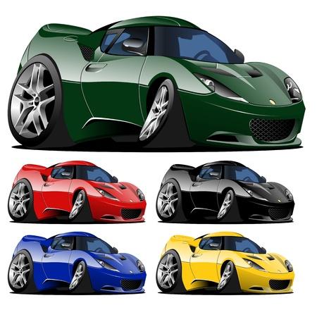 vector cartoon auto een klik repaint