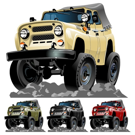 off road: Vector cartoon car One click repaint
