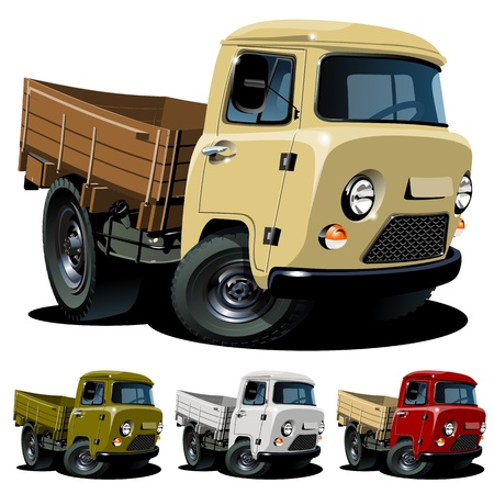 Vector cartoon 4x4 truck One click repaint Vector