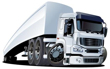 vector cartoon semi truck Stock Vector - 11665900